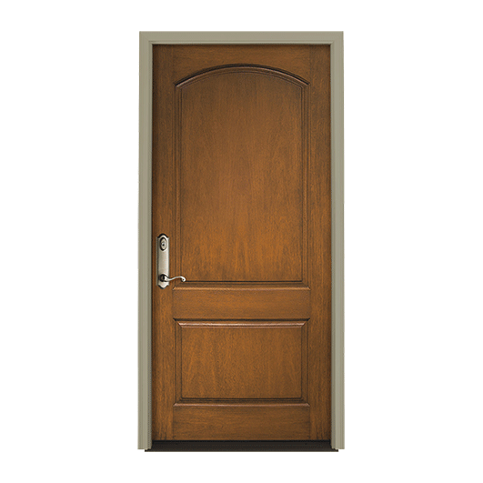 Architect Series 2 Panel Curve Entry Door Solid Panel
